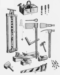 Outils de charpenterie